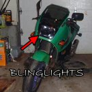 Kawasaki Ninja 600R Tinted Smoked Protection Overlay Film for Headlamp Headlight Head Lamp Light