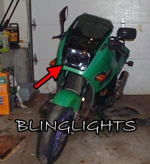 Kawasaki Ninja ZX600 ZX600a ZX600b ZX600c Tint Protection Overlay for Headlamp Headlight Head Lamp