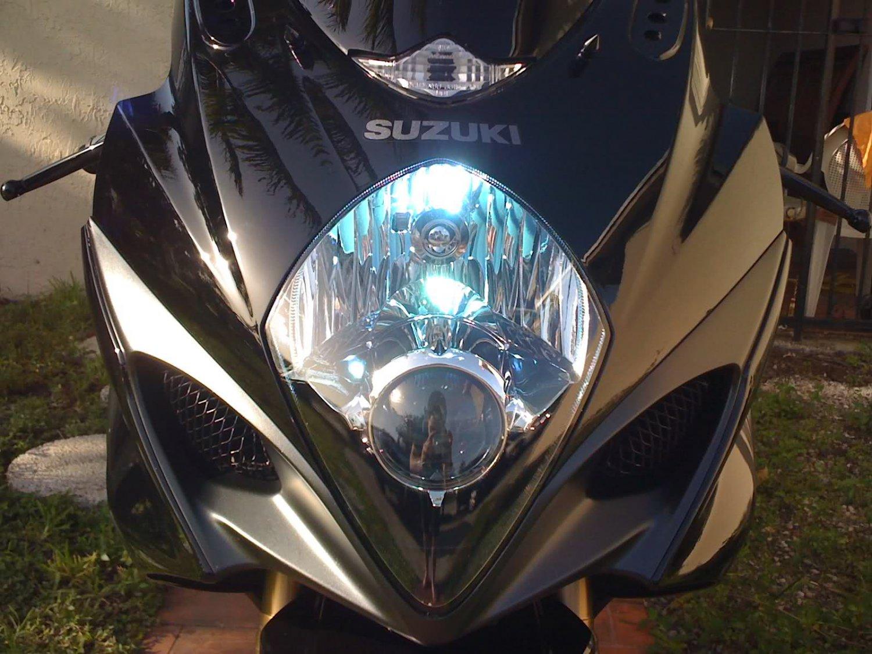 2008 2009 2010 Suzuki GSX-R600 GSXR 600 Bright White High Low Light Bulbs for Headlamp Headlight