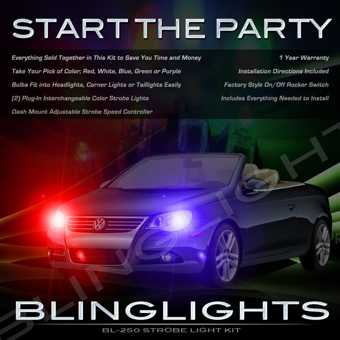 Volkswagen VW Eos Xenon Head Lamp Strobe Light Kit with Controller