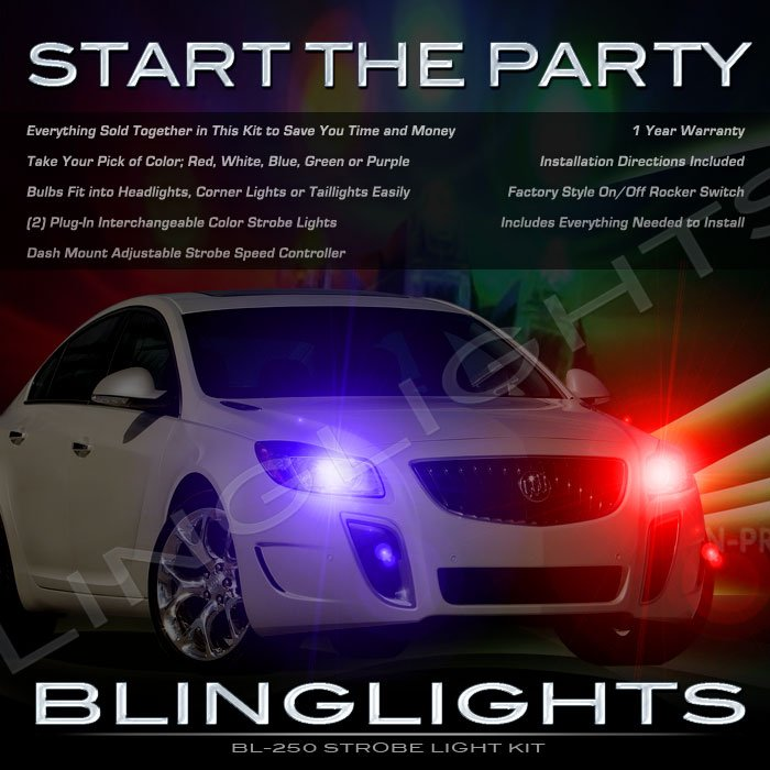 Buick Regal Head & Tail Lamps Strobe Light Kit w/ Controller