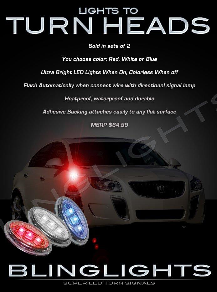 Opel Vauxhall Flushmount LED Turn Signal Marker Lights Side Blinker Lamps