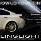 Buick Regal Tinted Tail Light Lamp Overlays Kit Smoked Protection Film
