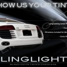 Audi R8 Tinted Smoked Protection Overlays Film for Taillamps Taillights Tail Lamps Lights Tint