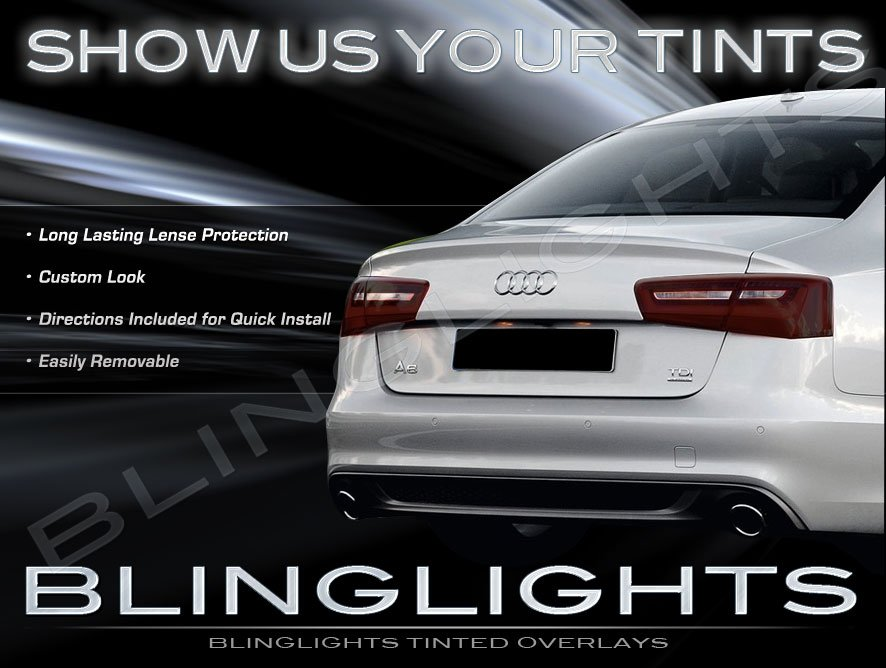 Audi A6 Tinted Smoked Protection Overlays Film for Taillamps Taillights Tail Lamps Lights Tint Smoke