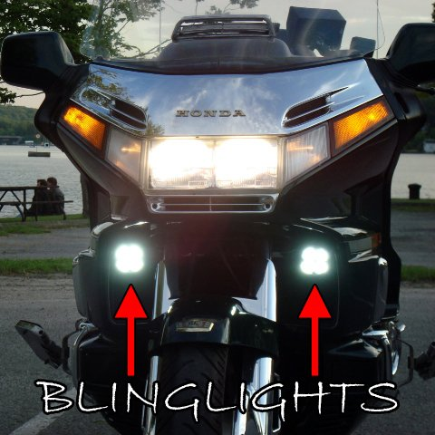 Honda Gold Wing GL1500 LED Fog Lamp Driving Light Kit Chrome Goldwing