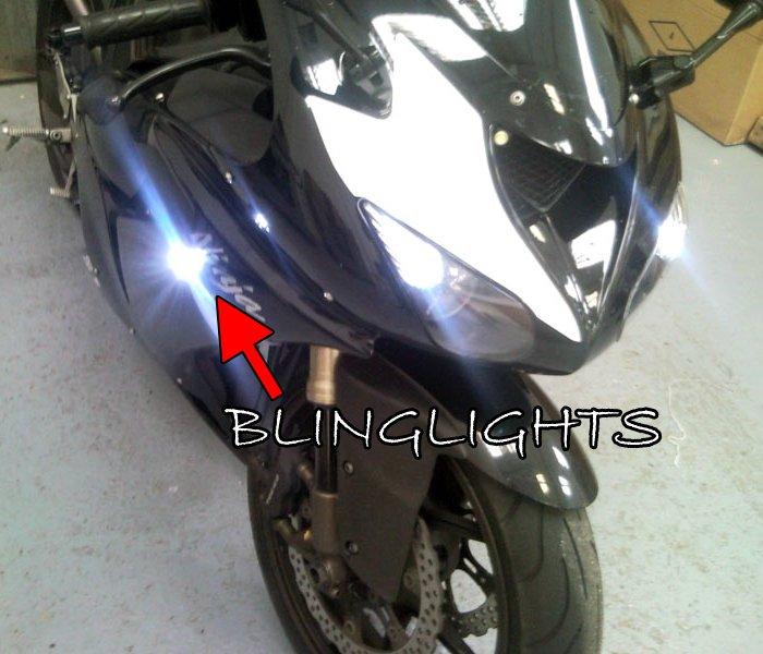 Kawasaki Ninja LED Side Turnsignal Marker Lights Turn Signal Accents Signalers Lamps Turnsignals