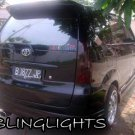 Toyota Avanza Tinted Smoked Overlays Protection For Taillamps Taillights Tail Lamps Lights Film