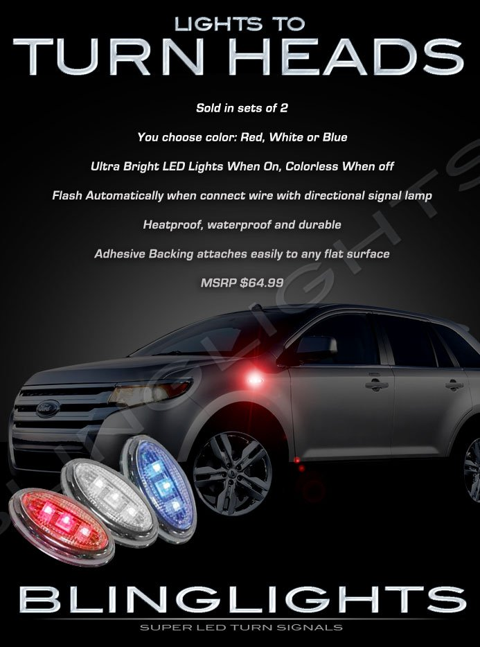 Ford Edge LED Side Markers Turnsignals Lights Accents Turn Signals Lamps Accent Marker Signalers