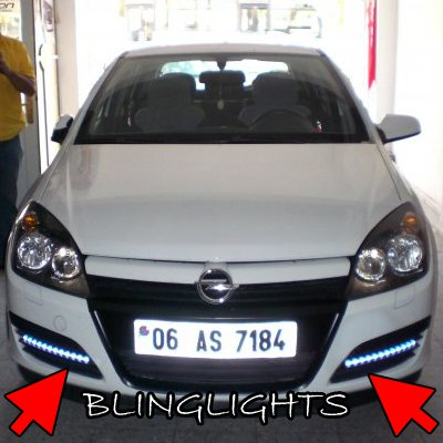 Opel Astra LED DRL Day Time Running Light Strips Kit Lamps