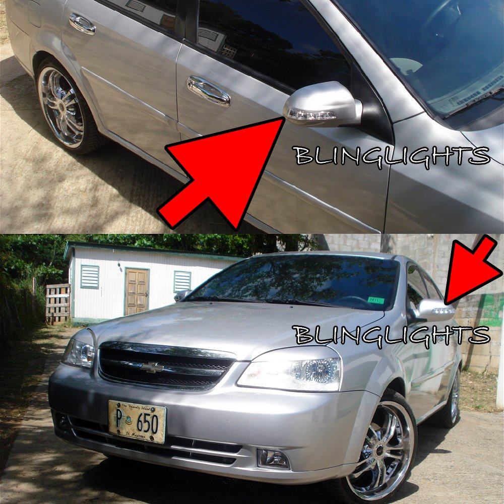 Chevrolet Chevy Lacetti LED Side Mirrors Turnsignals Lights Turn Signals Lamps Signalers