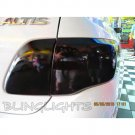 Toyota Altis Tinted Smoked Protection Overlays Film for Taillamps Taillights Tail Lamps Lights