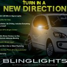 SEAT Mii Side View Mirrors Turnsignals Lights Mirror Turn Signals Accents Signalers Lamps