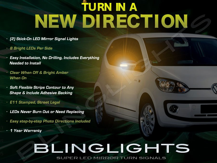 Skoda Citigo LED Side Mirrors Turnsignals Lights Mirror Turn Signals Lamps Signalers Accents Åkoda