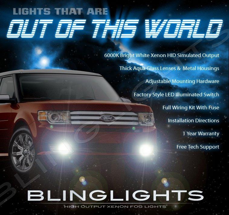 2009 2010 2011 2012 Ford Flex Xenon Fog Lamps Driving Lights Kit