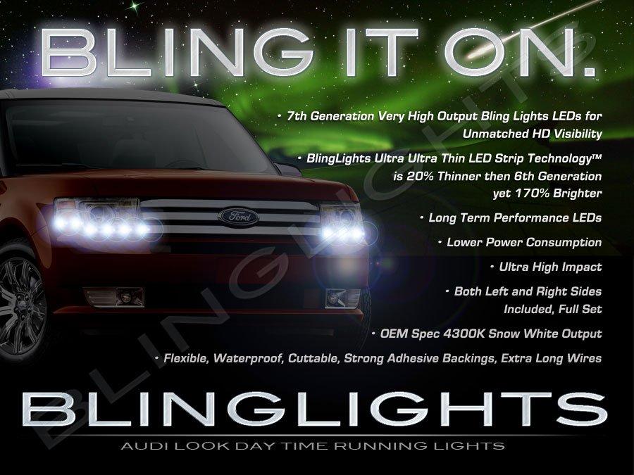 Ford Flex LED Day Time Running Light Strip Kit Headlamp DRLs