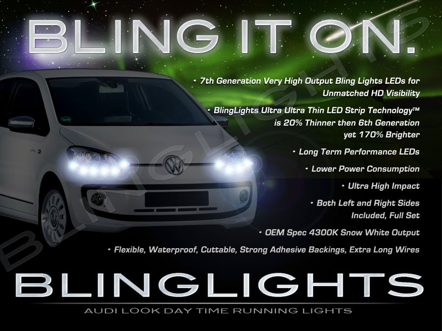 Skoda Citigo LED DRL Head Light Strips Day Time Running Lamp Kit Å koda