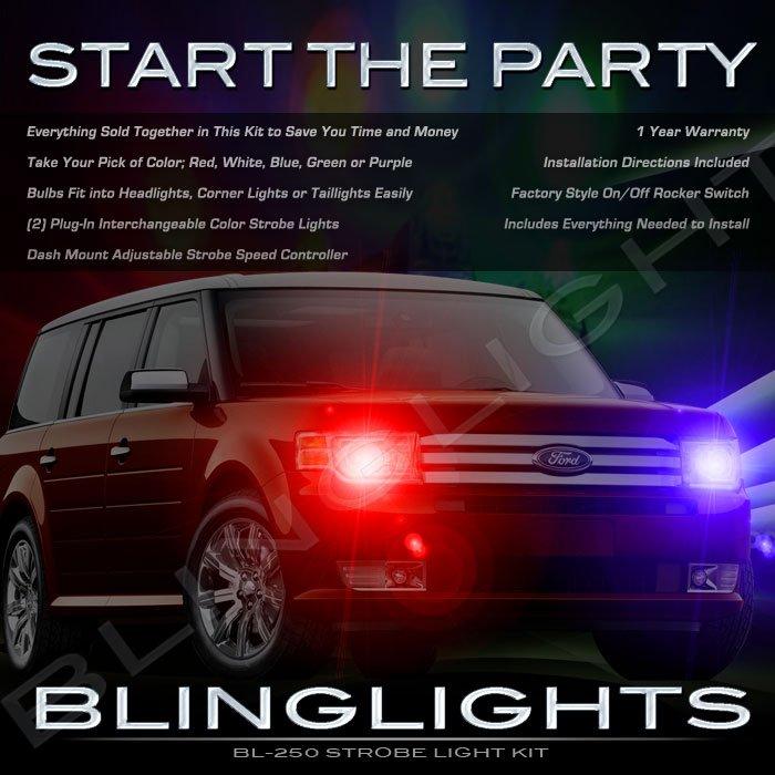 Ford Flex Police Strobe Light Kit for Headlamps Headlights Head Lights Lamps Strobes