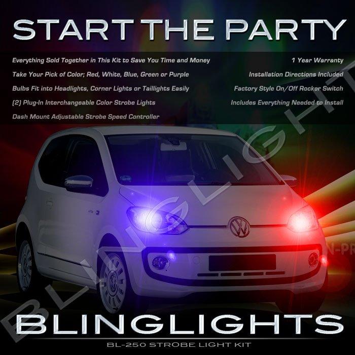 Volkswagen VW up! Police Strobe Light Kit for Headlamps Headlights Head Lamps Lights Strobes