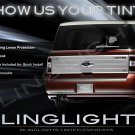 Ford Flex Tinted Tail Lamp Light Smoked Overlay Film Kit Lense Protection
