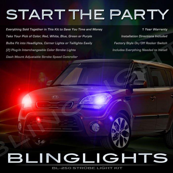 KIA Soul Strobe Police Light Kit for Headlamps Headlights Head Lamps Lights Strobes