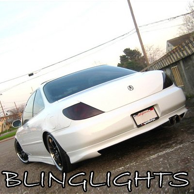 1997 1998 1999 Acura CL Tinted Smoked Tail Lights Lamps Overlays Film Protection