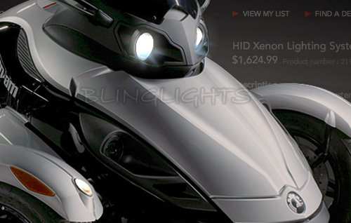 Xenon HID Conversion Kit for Can-Am Spyder Roadster Trike Head Lights