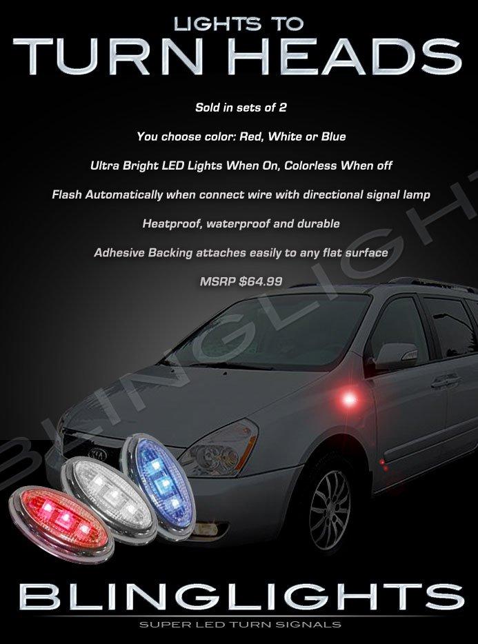 Kia Sedona LED Side Marker Turnsignals Lights Accent Turn Signals Lamps Markers Signalers Accents