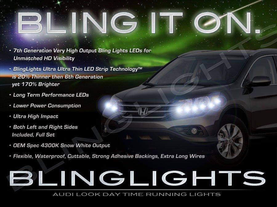 Honda CR-V LED DRL Head Light Strips Daytime Running Lamp Kit CRV