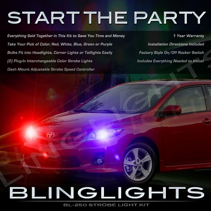 Toyota Corolla Stobes Head Lamp Tail Light Kit Red White Blue Green Purple