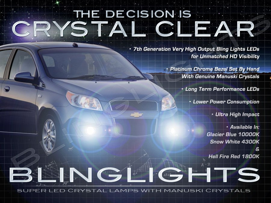 2009 2010 Holden Barina LED Fog Lamps Driving Lights Foglamps Foglights Drivinglights Kit