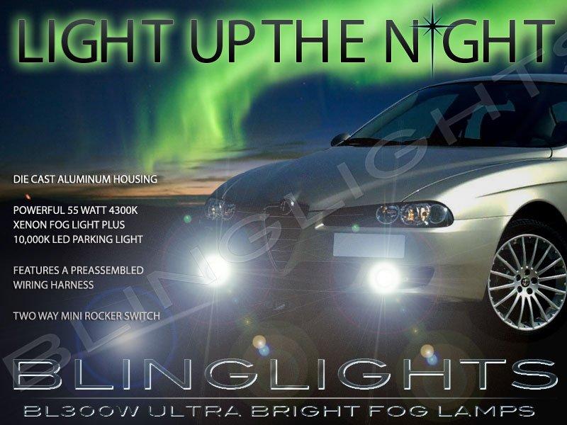 2003 2004 2005 2006 2007 Alfa Romeo 156 Xenon Fog Lamps Driving Lights Foglamps Foglights Kit