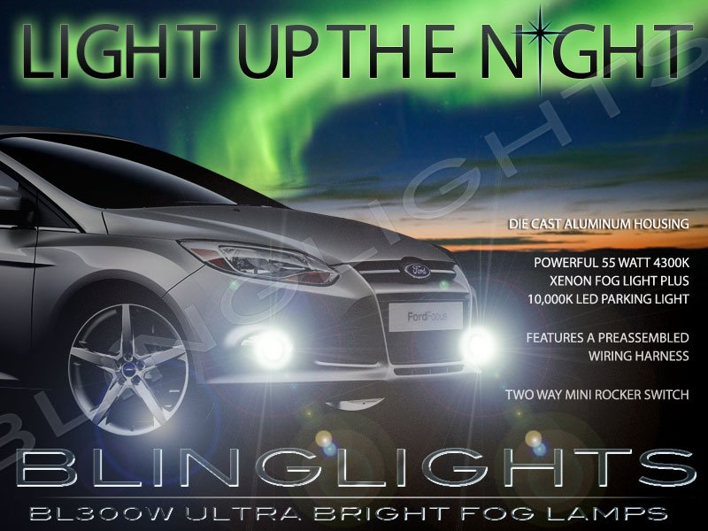2012 2013 2014 Ford Focus Mk3 Xenon Fog Lamps Driving Lights Kit