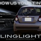 Chevy Aveo Tinted Tail Lamp Light Overlays Kit Smoked Film Protection