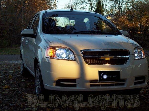 Chevrolet Chevy Kalos Bright White Light Bulbs for Headlamps Headlights Head Lamps Lights