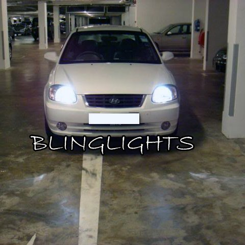 2000 2001 2002 2003 2004 2005 Hyundai Avega Bright White Light Bulbs for Headlamps Headlights