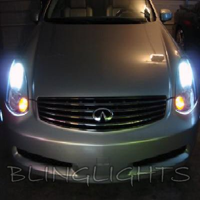 2003 2004 2005 Infiniti G35 Halogen Upgrade Replacement Bulbs headlights headlamps head lights lamps