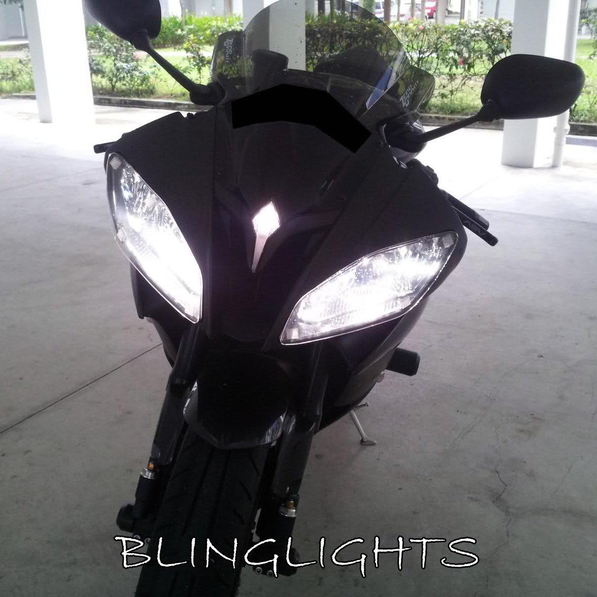 Yamaha YZF-R6 Bright White Upgrade Light Bulbs for Headlamps Headlights Head Lamps Lights