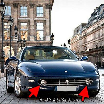 1998 1999 2000 2001 2002 2003 Ferrari 456 M GT GTA Halo Fog Lamps Angel Eye Lights Foglamps Kit