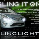 Hyundai Solaris LED DRL Light Strips Headlamps Headlights Head Lamps Day Time Running Strip Lights