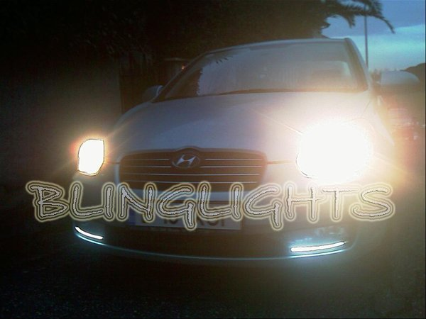 Hyundai Brio LED DRL Light Strips Headlamps Headlights Head Lamps Day Time Running Strip Lights