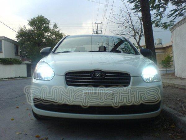 2006 2007 2008 2009 2010 2011 Hyundai Verna Bright White Light Bulbs for Headlamps Headlights