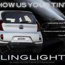Kia Euro Star Tinted Smoked Protection Overlays for Taillamps Taillights Tail Lamps Lights
