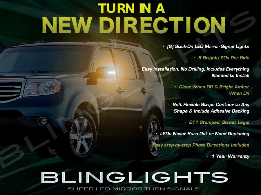 Honda MR-V LED Side Mirrors Turnsignals Lights Accents Turn Signals Lamps Mirror Signalers Blinkers