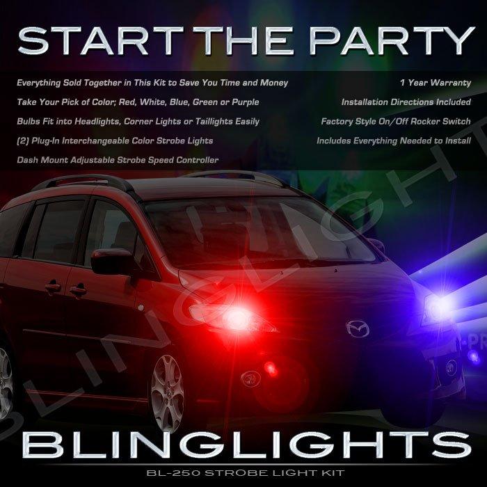 Mazda5 Strobes Police Light Kit for Headlamps Headlights Head Lamps Emergency Show Lights Kit