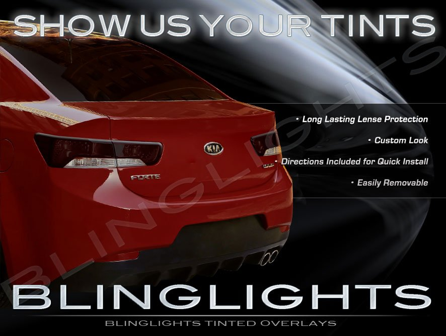 Kia Forte Koup Tinted Smoked Protection Film Overlays for Taillamps Taillights Tail Lights Lamps