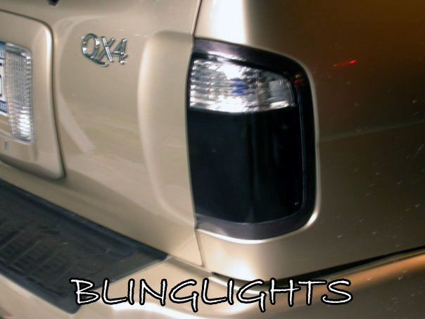 1997-2003 Infiniti QX4 Tinted Smoked Taillamps Taillights Protection Overlays Film