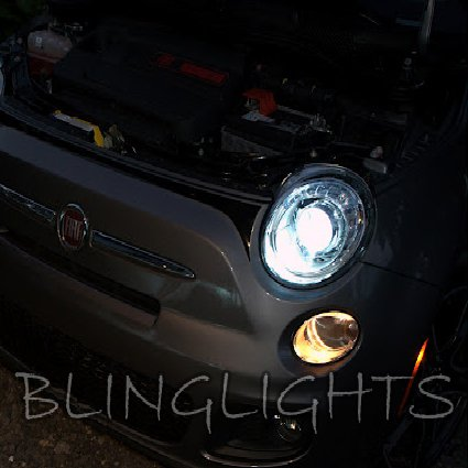 Fiat 500 Bright White Upgrade Replacement Light Bulbs for Headlamps Headlights Head Lamps Lights