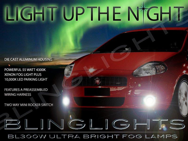 Fiat Grande Punto Xenon Fog Lamps Driving Lights Kit 2005 2006 2007 2008 2009 2010 2011