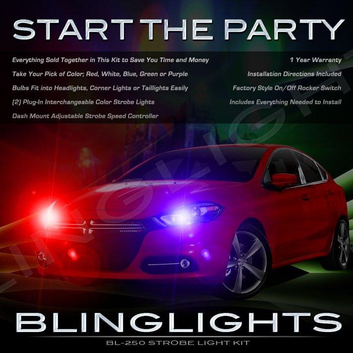 Dodge Dart Strobes Police Light Kit for Headlamps Headlights Head Lamps Show Lights